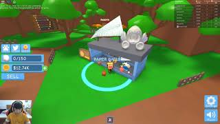 ROBLOX Paper Ball Simulator-2 brothers cast together throwing ball paper