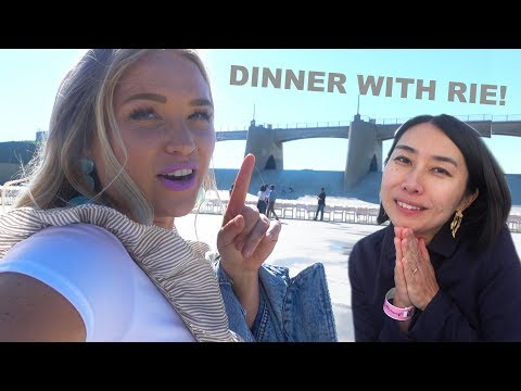 RIE & I EAT DINNER ON A DAM | Alix Traeger