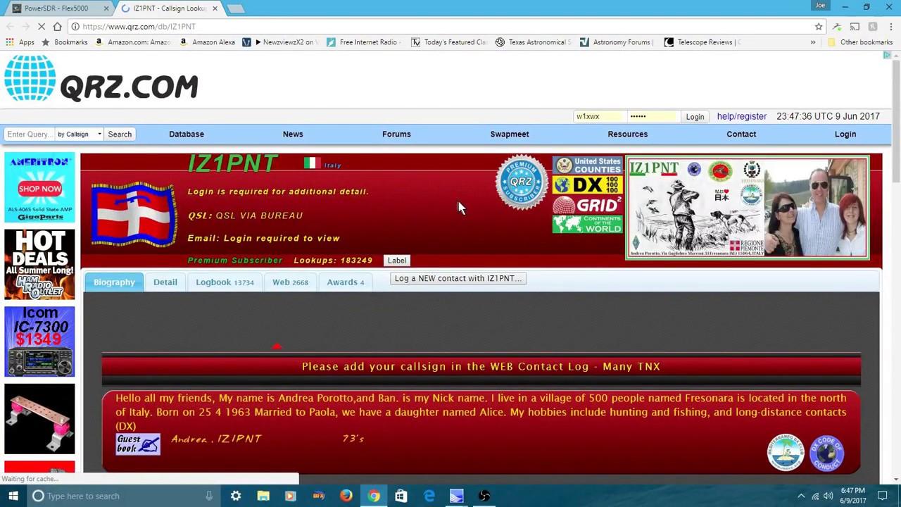 Flex 3000 radio running KE9NS software