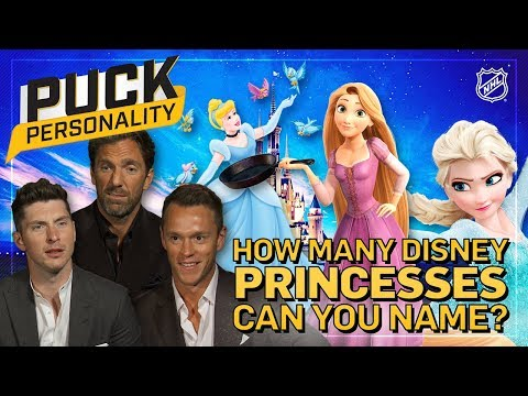 How Many Disney Princesses Can You Name? | Puck Personality | NHL