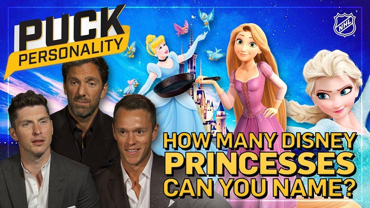 Watch Nhl Players Hilariously Struggle To Name Disney Princesses