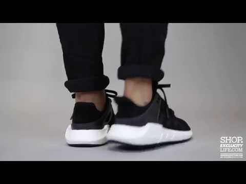 Adidas EQT Support 93 17 Black White On feet Video at Exclucity ... 9f236d4a1