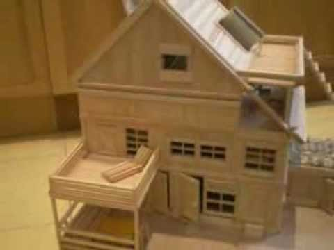 Maquette en bois chalet cr ation chenevotot youtube - Creation a faire a la maison ...