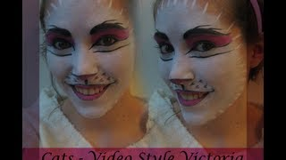 How To Do Cats Makeup - Video Victoria