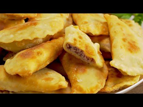 Очень вкусные жареные пирожки с мясом из пресного теста на сковороде. Рецепт от Всегда Вкусно!