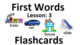 First Words Flashcards Lesson 3 / Beginning Words flashcards learning videos for baby and kids