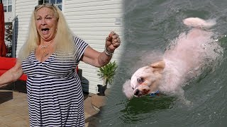 DROWNING DOG PRANK ON GRANDMOM