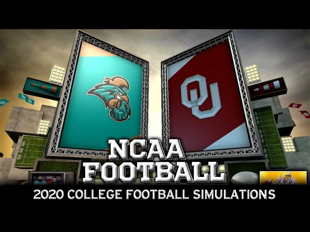 Coastal Carolina vs Oklahoma 2020 NCAA Football Simulation