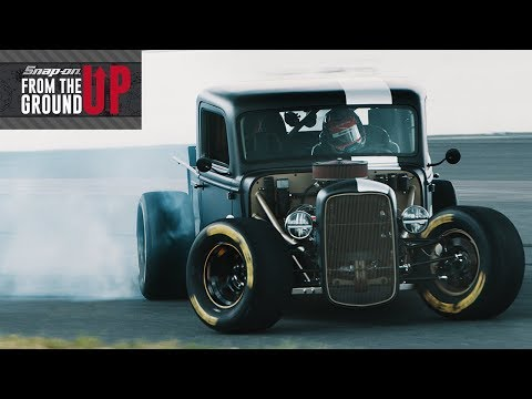 Joey Logano drifts an 800HP NASCAR Powered Hot Rod Truck | Snap-on From the Ground Up