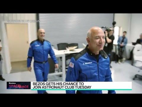 Jeff Bezos Prepares for Space Flight