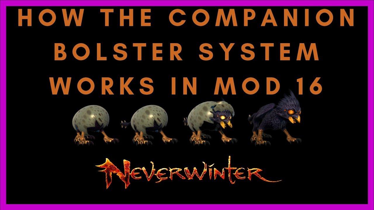 How The Legendary Companion Bolster Bonus System Works In Mod 16 Neverwinter