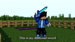 DIAMOND SWORD MINECRAFT PARODY OF DEMONS  REMASTERED
