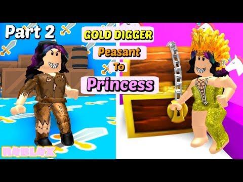 The Gold Digger Daughter (Part 2) : Peasant to Princess (Roblox Story)