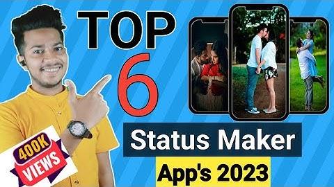 Top 6 best status maker apps of 2021 | Trending Whatsapp Status Maker Apps 🔥