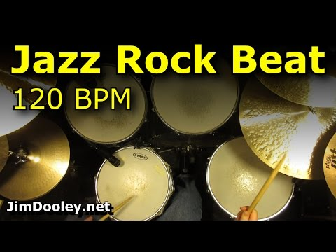 Backing Track - Jazz Rock Drum Loops 120 BPM