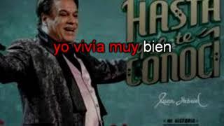 Hasta que te conocí Juan Gabriel Karaoke