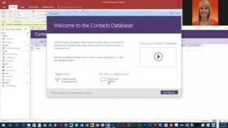 Project 1a het Maken van een nieuwe database contacten met behulp van een sjabloon