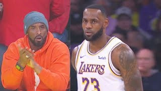 Kobe Bryant Impressed By LeBron James Passes To Lakers Teammates! Lakers vs Mavericks