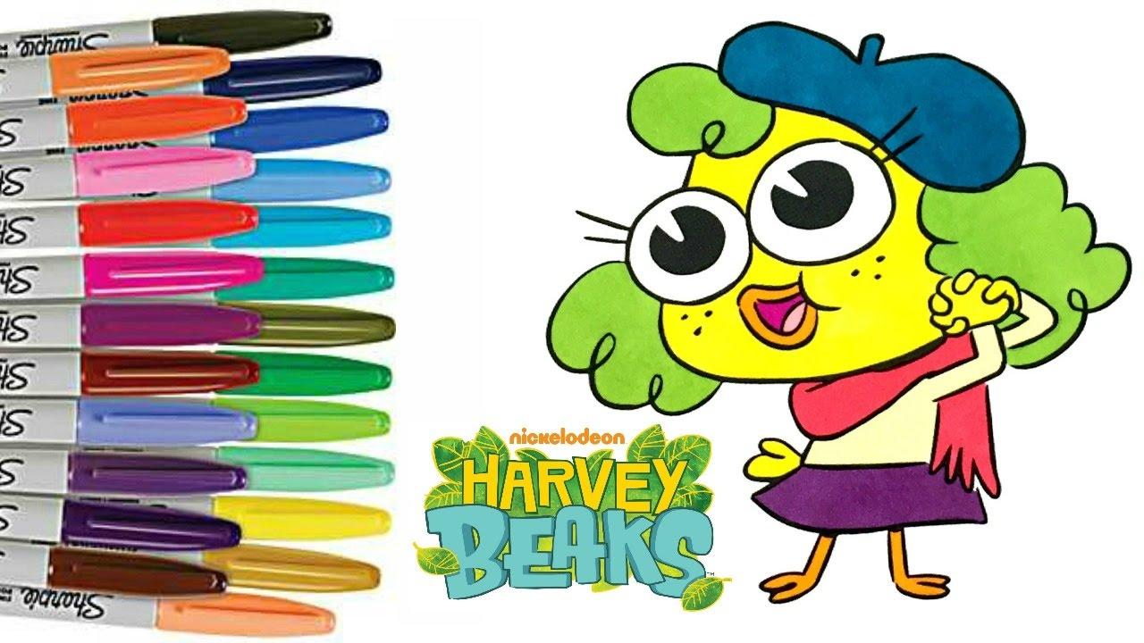 nickelodeon harvey beaks piri piri coloring book page how to color