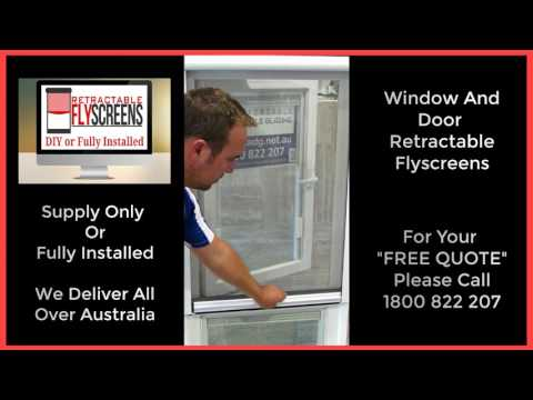 Retractable Fly Screens For Windows and Doors Melbourne Call 1800 822 207