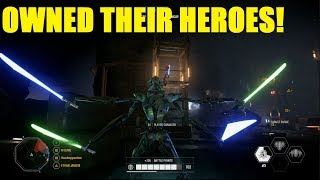 Star Wars Battlefront 2 - We destroyed their heroes with GRIEVOUS! | General Grievous Killstreak!