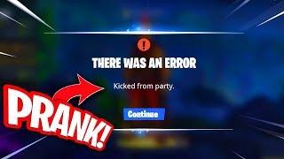 ZO KICK JE JE VRIENDEN UIT EEN GAME!! PRANK JE VRIENDEN! Fortnite Battle Royale Nieuws