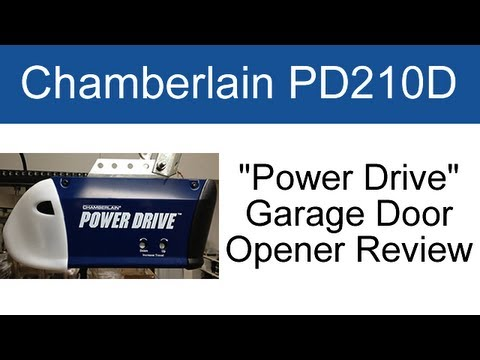 Chamberlain Pd210d Garage Door Opener Review Youtube
