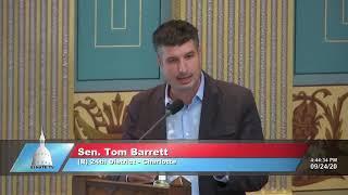 Sen. Barrett addresses the Senate on election integrity