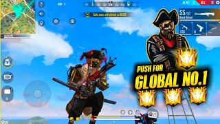 Free Fire Live - Try Global No.1 Rank Push Global Heroic & GrandMaster🤣