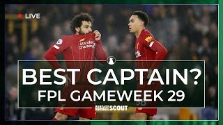 FPL GW29 | BEST CAPTAIN PICKS | Arsenal & Man City top the poll | Fantasy Premier League Tips 19/20