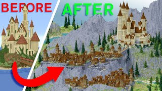 Subscriber LOST Build Competition So I TRANSFORMED His Minecraft World! | Razer Blade