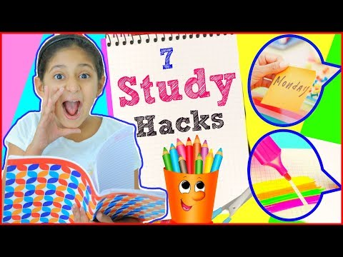 7 STUDY HACKS Every STUDENT Must Know… | #ShrutiArjunAnand #Funny #Sketch #Tricks #MyMissAnand