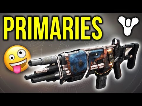 When a Youtuber uses ONLY primaries... this is the result | Destiny 2 thumbnail
