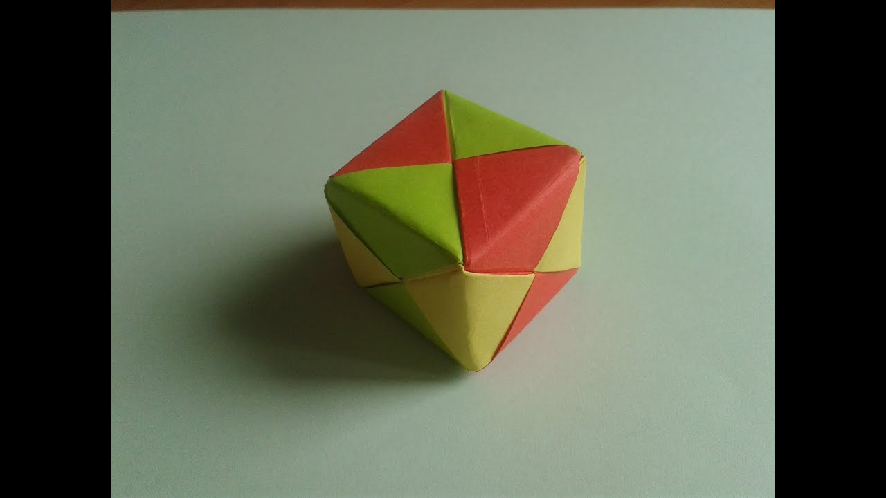 Origami 3D Cube - YouTube - photo#35