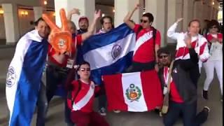 Peruanos en la inauguración del mundial de Rusia 2018