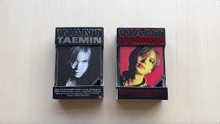 ♡Unboxing Taemin 태민 2nd Mini Album WANT 원트 Kihno Edition (Both Ver.)♡
