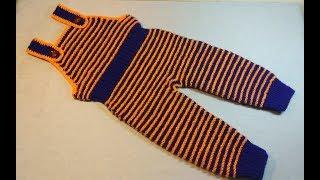 Вязание спицами детский комбинезон #219