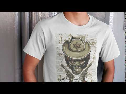 Gorilla Pistol Animal T-Shirt