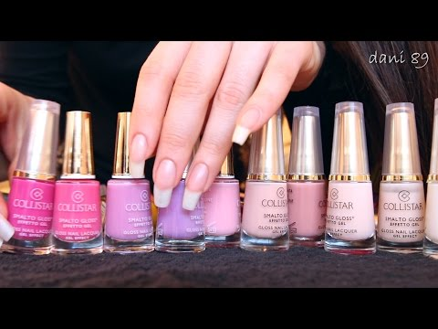 I show you a part of My nail polishes Collection ♥ (ASMR version)