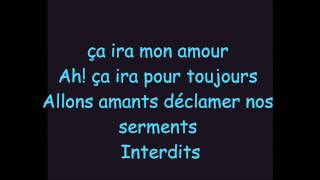 Ca ira Mon amour (Paroles)