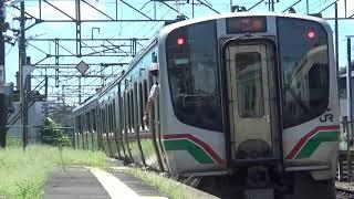 東北本線 701系+E721系 槻木駅 発車