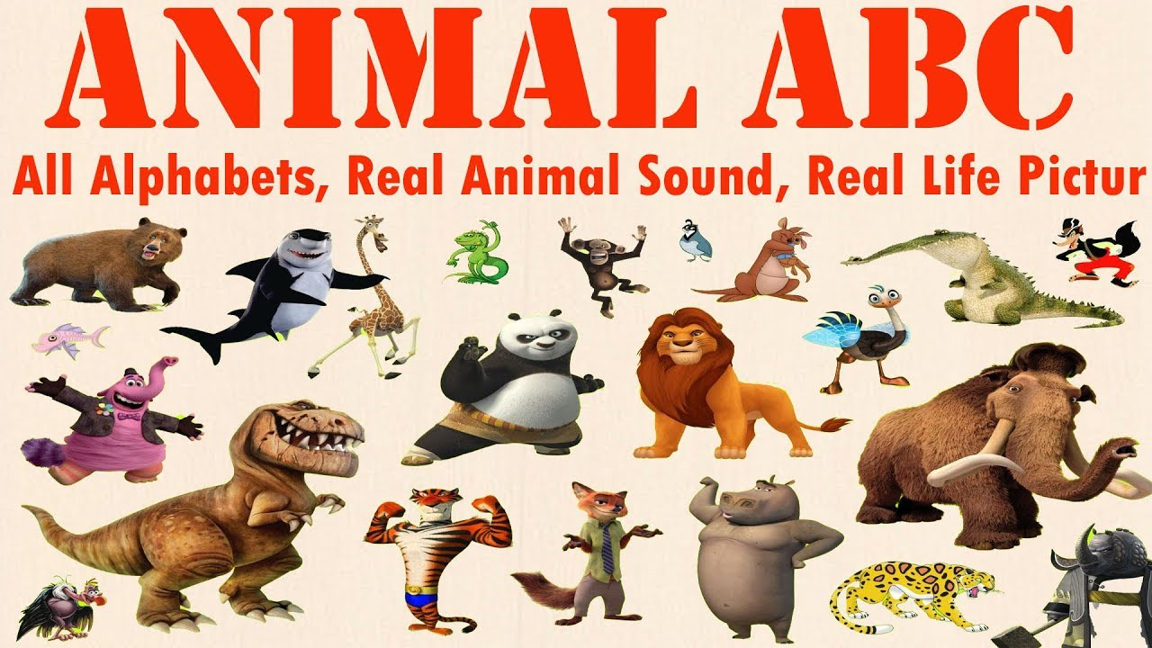 Image of: Starts Learn Alphabet With Real Animals Cartoon Abcd Wild Animals Names And Sounds Abcteach Learn Alphabet With Real Animals Cartoon Abcd Wild Animals Names