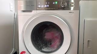 Panasonic front loading washing machine VX6 EcoNavi whole cycle