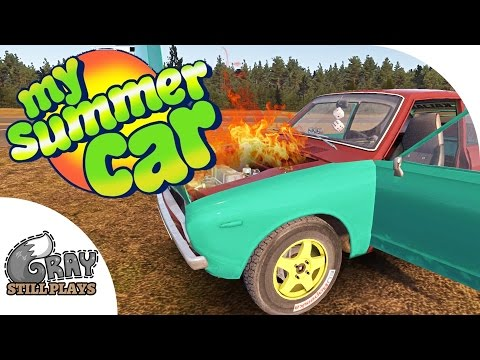 Racing the Airport 1/4 Mile Track, Blowing up the Engine! - My Summer Car Gameplay Highlights Ep 16