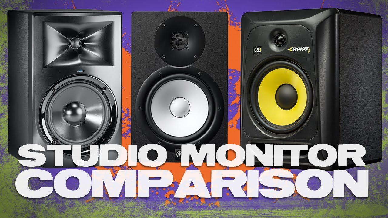 studio monitor comparison featuring jbl lsr308 krk rp8g3