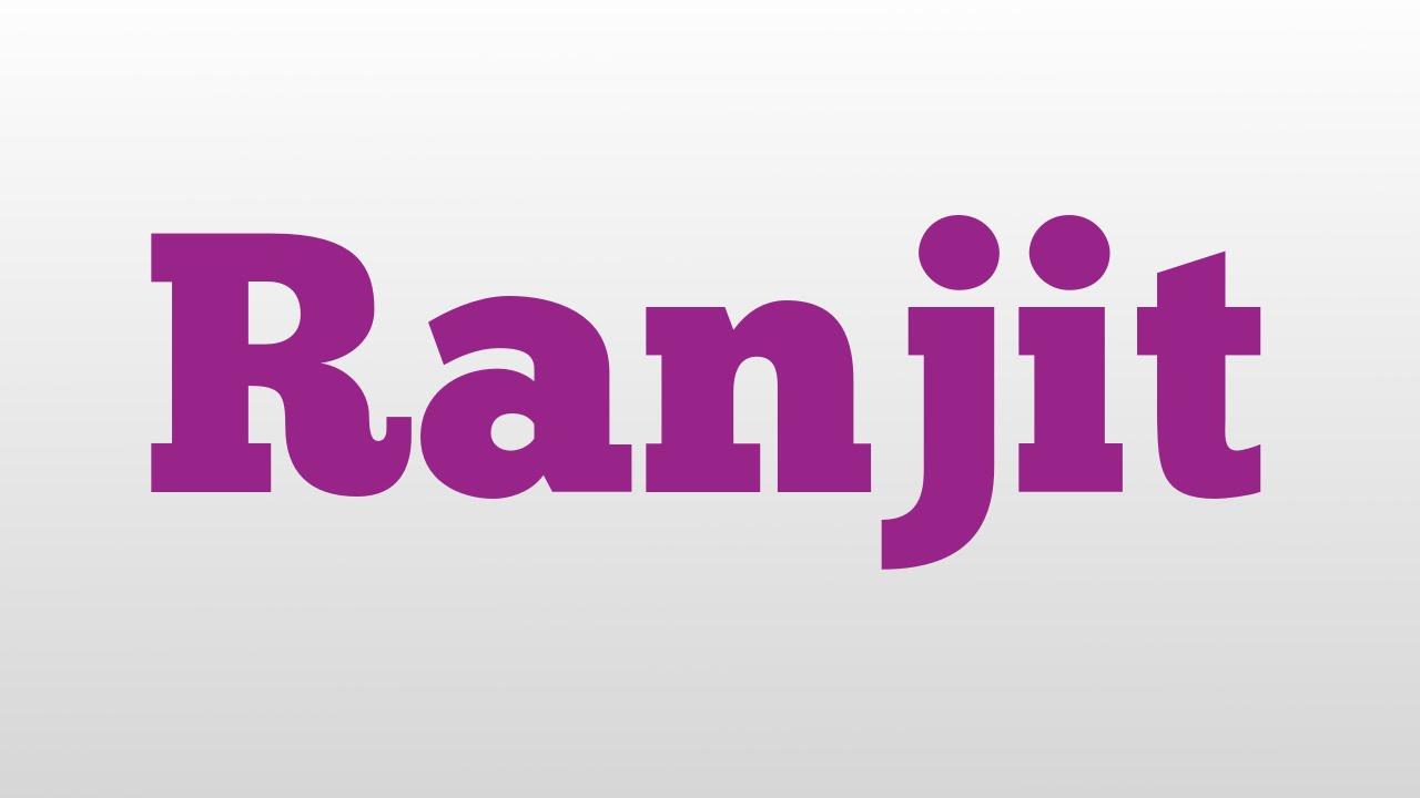 ranjeet name letter