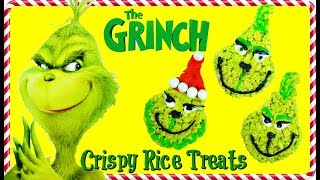 The GRINCH MOVIE: Making Grinning Grinch Crispy Rice Treats. Toy Daycare