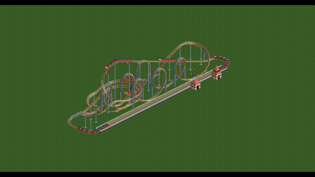 RCT2 - 5 useful looping coaster designs for scenario play