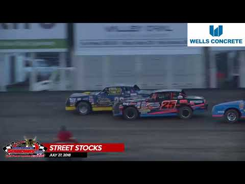 Wells Concrete Street Stock Feature - River Cities Speedway - July 27, 2018