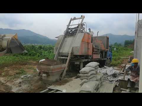C5 Sino Truck mounted portable diesel concrete mixer with pump